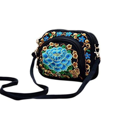 Espeedy Frauen Nationalen Stil Blume Stickerei Leinwand Umhängetasche Umhängetasche China Trend 4