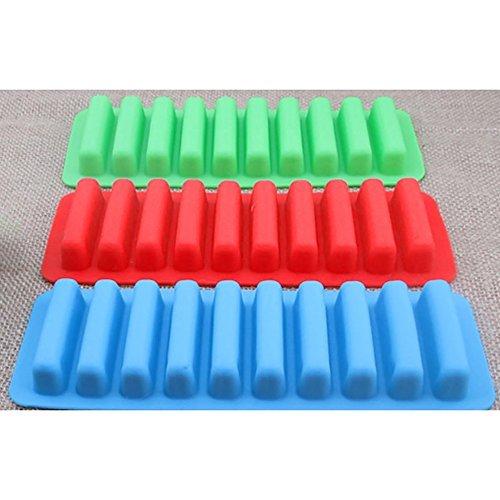 che Ice Tube Ice Cube Tray mit leicht zu lösender Push Pop Out Stick farbigen Silikon (3Stück) (Wasser Tray)