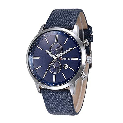 Relojes de Hombre - NORTH moda hombres casual delicado diseno fecha cuero de la PU militar reloj regalo Azul