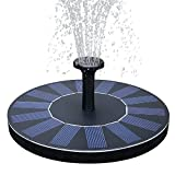 FEELLE Solar Power Fountain Pump 1.4W Solar Panel Floating Submersible Water Pump for Bird Bath, Pond, Pool, Rockery Fountain and Garden Decoration