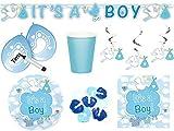Unbekannt 47-tlg. Geburt Baby Boy Junge Babyparty Dekoset Partyset Blau