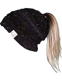 004f9a41e5c BT3-6021-806 CC 365 All Season BeanieTail - Black Confetti