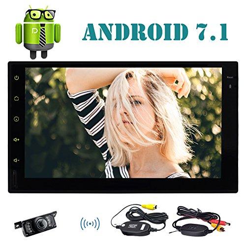 EinCar 7 '' Doppel-DIN-Autoradio mit Android 7.1 Octa-Core 2GB 32GB im Schlag GPS-Navigation Auto FM AM Radio Unterst¨¹tzung Bluetooth WiFi OBD2 Mirrorlink Lenkrad-Steuerung + Free Wireless Backup-Kamera