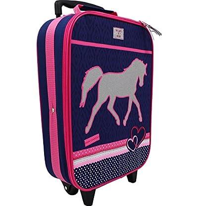Spielwaren-Klee-Koffer-Trolley-Kinderkoffer-Handgepck-Kindertrolley-Einhorn-Pferd-Mdchen-8289