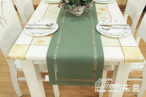 Moderne Einfache Tischläufer,Heat Mat Klein Geschnitten Ein Quadrat Rot Blau Schwarz Grün Multi Farbe Tischfahne-B 33x220cm(13x87inch)