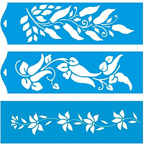 28cm-x-8cm-pochoir-jeu-de-3-rutilisable-en-plastique-transparent-souple-trace-gabarit-traage-illustr