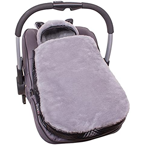 Sevira Kids - Manta para capazos y sillas de coche para bebé (68 cm, antialérgica)