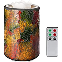 COOSA Vaso multicolore mosaico di vetro telecomando Candle Light LED fontana di acqua candela acqua fontana candela ha portato fontana a mosaico portato fontana candela portatile fontana di acqua candela fontana d'acqua coperta di candela Multicolor Mosaic Glass Jar Remote Control Candle LED Light water fountain candle aqua fountain candle led mosaic fountain led fountain candle laptop water fountain candle indoor water fountain candle (ricaricabile\rechargeable)