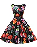 Damen sommerkleid partykleider cocktailkleider große größe festliches Kleid oversize swing kleid 4X CL6086-14