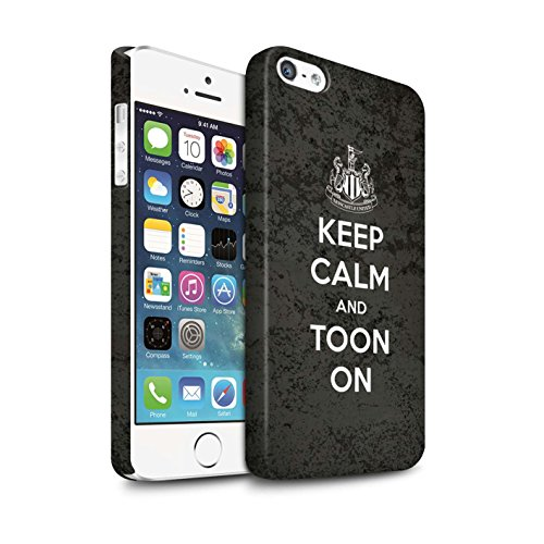 Offiziell Newcastle United FC Hülle / Matte Snap-On Case für Apple iPhone 5/5S / Pack 7pcs Muster / NUFC Keep Calm Kollektion Toon On