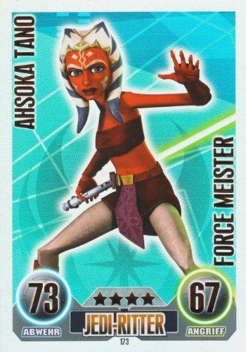 Star Wars Force Attax Einzelkarte 173 Ahsoka Tano Jedi-Ritter Force Meister deutsch (Wars, Star Jedi-meister)