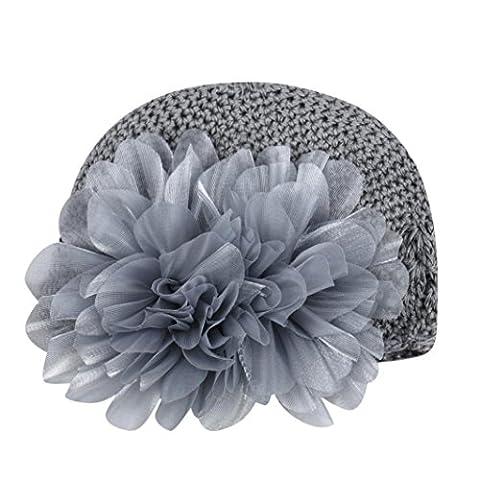Bluestercool Fleur Infant Baby Girl Hair Band Headband Headwear Hat (gris)
