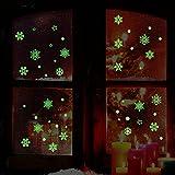 Upxiang Weihnachten Schneeflocke Leuchtende Abnehmbare Wand Fenster Aufkleber Kunst Aufkleber Home Shop Decor