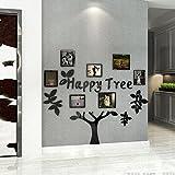 GOUZI 3D-Kreative Baum Spiegel Bilderrahmen Foto an der Wand, Schwarz 160*149,7 cm Abnehmbare Wall Sticker für Schlafzimmer Wohnzimmer Hintergrund Wand Bad Studie Friseur