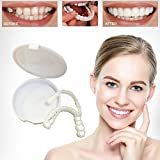 Instant Smile Teeth, Teeth Whitening kit, Denture Cosmetic Teeth, Aesthetic Dentistry Snap On Smile Instant Smile Comfort Fit Flex Cosmetic Denture Teeth Care One Size Fits More Comfortable
