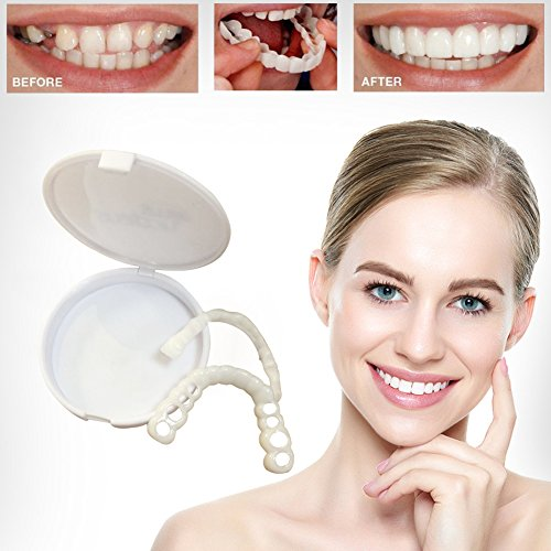 Instant Smile Teeth Teeth Whitening Denture Cosmetic Teeth - Aesthetic Dentistry Snap On Smile Instant Smile Comfort Fit Flex Cosmetic Denture Teeth Care One Size Fits More Comfortable