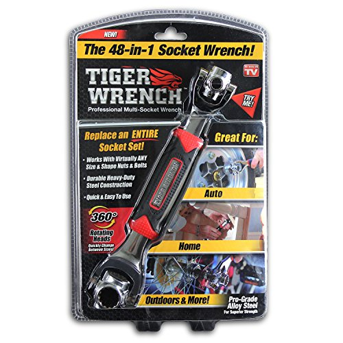 Tiger Schlüssel tw-mc12/4Ontel 48Werkzeuge in One Sockel   funktioniert mit Spline-Schrauben, 6-kant, 12-Kant, Torx, quadratisch beschädigt Schrauben und jeder Größe Standard- oder Metrisches