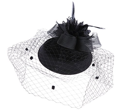 Fascinator Hut Pillbox Hut Britischer Bowler Hut Blumen Schleier Hochzeits Hut Tee Party Hut