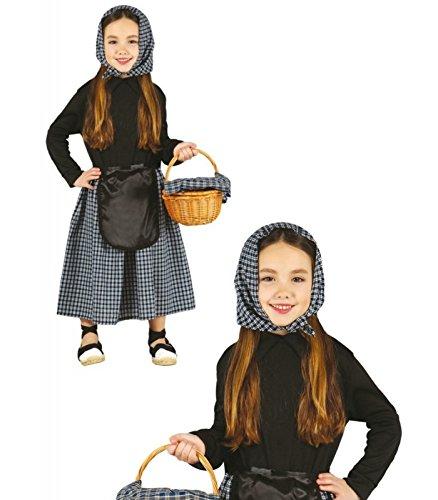 Imagen de disfraz de castañera para niña  3 4 años