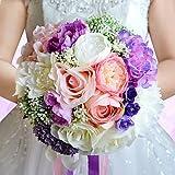 LNPP Hochzeitsblumen Str?u?e Hochzeit Perlen Spitze ca.24cm
