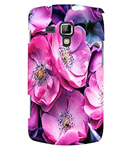 Fuson 3D Printed Flower Designer Back case Cover for Samsung Galaxy S Duos S7562 - D4499