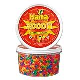 Hama 210-51 - 3000 Perlen, neon, gemischt, in der Dose