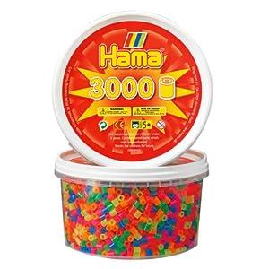 Hama 210-51 - Cuentas para planchar (3000 unidades), colores brillantes mezclados