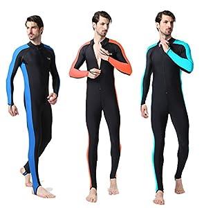 Protector solar de manga larga de cuello alto de una sola pieza de baño traje de baño traje de buceo ajustado para los hombres