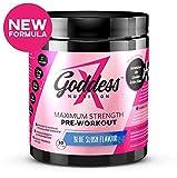 Goddess Nutrition - Maximum Strength Pre-Workout Supplement for Women - 270g, Blue Slush