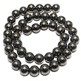 #4: Beadsnfashion Jewellery Making Acrylic Round Beads Black, Size 10 mm, Pack of 1 string