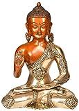 Exotic India Señor Buda en Abhaya Mudra (Tibetano Budista deidad)-Estatua de latón