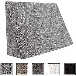 Cojín de cuña para sala de estar y dormitorio, cojín de lectura, cojín relax, respaldo, almohada de vientre // Cojín de cuña para acostarse y sentarse (5 colores para elegir) (moteado en blanco y negro)