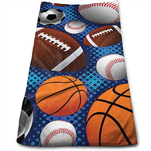 Wolanim Ball Sports Personality Funny Washcloth Towels 27.5
