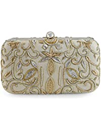 Tarini Nirula Accessories Women's Clutch (Silver White)