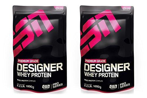 ESN Designer Whey Protein 2 x 1000g Beutel - Geschmack: Chocolate + Vanilla= 2 Kg