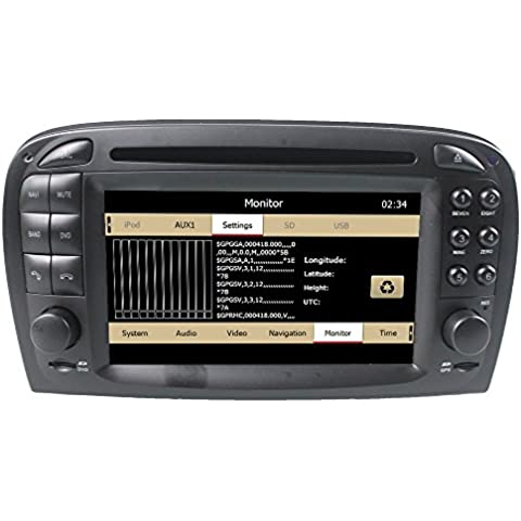 LIKECAR Wince6.0 capo unità Car Stereo GPS navigatore satellitare DVD Player 6.2 pollici in precipitare HD Touchscreen per Mercedes Benz SL R230 (2001-2007) supporto GPS / Navi / USB / SD / 3G / DVR / DVB-T Box ingresso / uscita subwoofer / Cam-in / Bluetooth / controllo del volante Funzione / FM / AM Radio Stereo Multimedia Station Navigation System con SD Card gratuita