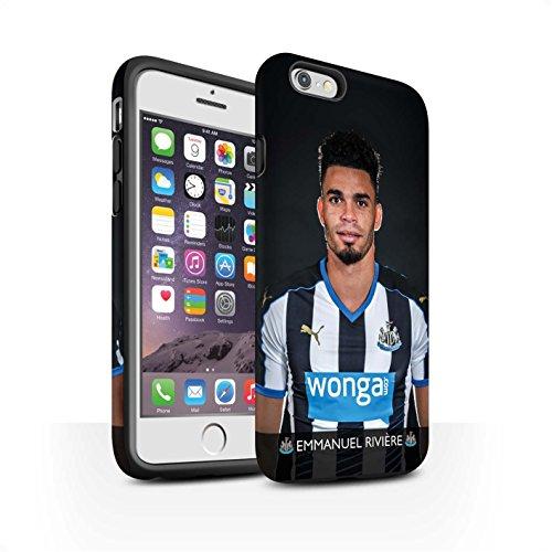 Officiel Newcastle United FC Coque / Matte Robuste Antichoc Etui pour Apple iPhone 6 / Pack 25pcs Design / NUFC Joueur Football 15/16 Collection Rivière