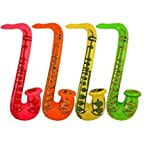 Enlarge toy image: Inflatable Saxophone 75cm - school time children learning and fun