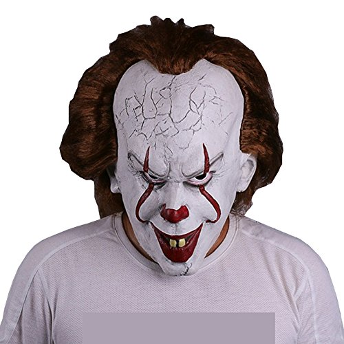 Halloween Maske Pennywise IT 2017 Film Stephen King's Spaßmacher (Clown Beste Scary Masken)