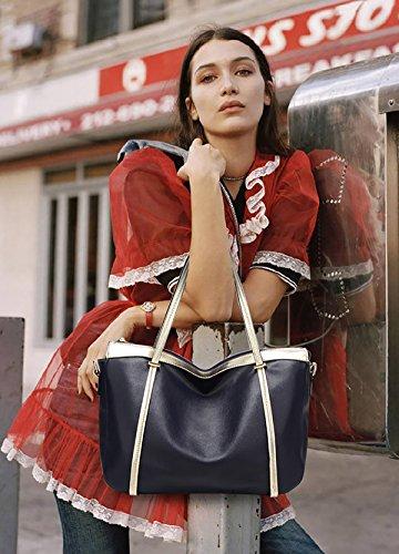 Sunas Borsa a tracolla delle donne di modo della borsa borsa morbida borsa retrò Messenger Phillips blu