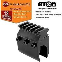 ATOM Optics - Cañón de escopeta soporte con 5 espacio riel de tejedor