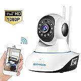 Telecamera Wifi SZSINOCAM Telecamera di Sorveglianza Wireless 1080P HD IP Camera P2P IR Rilevatore di movimento Audio Bidirezionale, Modalità Notturna a Infrarossi, per casa / Baby