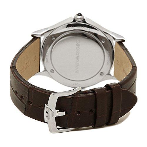 Großhandelsverkauf Online kaufen Preis vergleichen Emporio Armani Swiss Made Mens Quartz Stainless Steel and Leather Dress  Watch, Color:Brown (Model: