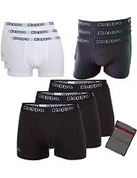 Kappa Herren Unterhose Ziatec Edition mit praktischem Wäschenetz 3er, 6er und 9er Packs schwarz, weiß, grau