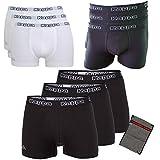 Kappa Herren Unterhose Ziatec Edition - Boxhershorts mit praktischem Wäschenetz 3er, 6er und 9er Packs - Männer-Unterwäsche, Farbe:3 x weiß, Größe:L