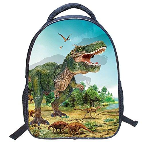 Imagen de jiyaru imprimir  dinosaurio patrón para niños bolso de escuela de guardería #4