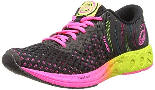 Asics Noosa FF 2, Zapatillas de Entrenamiento para Mujer, Negro (Black/Hot Pink 001), 39.5 EU