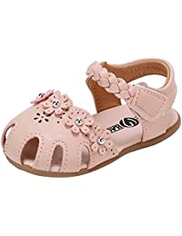 Lenfesh Sandali bambini, Multicolore (Marrone), 27 EU
