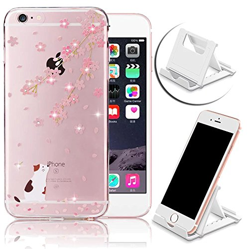 iPhone 6S Plus Custodia, iPhone 6 Plus Custodia, Apple iPhone 6 Plus/6S Plus 5.5 pollici Bling Diamante TPU (Womens Hard Cap)