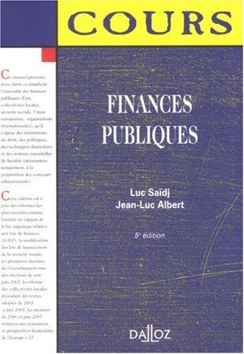Finances publiques : Edition 2007